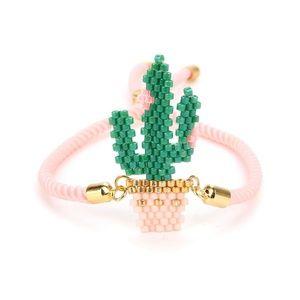 Womens Cactus Pink Beaded Bracelet-969/70